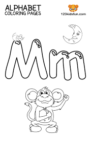 This blog post combines worksheets, flashcards, coloring pages, posters and other printables previously published in multiple posts and that are dedicated to the english so this post presents printables designed to teach the english alphabet and namely the letter m. Free Printable Alphabet Coloring Pages For Kids 123 Kids Fun Apps