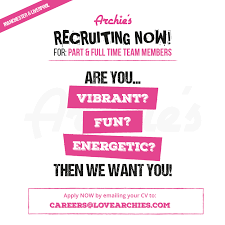 Archie S Are You Looking For An Exciting New Job Love Facebook