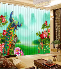 Peacock Living Room Popular Peacock Window Curtains Buy Cheap Peacock Window Curtains