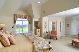 Master bedroom with glass-doored sitting room traditional-bedroom