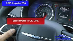 2015 Chrysler 200 Check Engine Light 2015 Chrysler 200 Oil Light Reset Service Light Reset