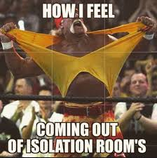How I feel coming out of isolation rooms. Nurse humor. Nursing ... via Relatably.com