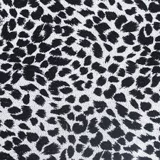 Leopard Pattern Fascinating Flocked Sequins Fabric In Black And White Leopard Pattern 48