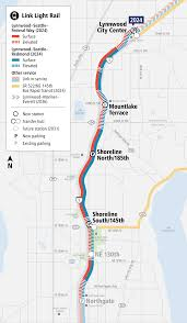 Seattle Transit Map Light Rail Lynnwood Link Extension Project Map And Summary Sound