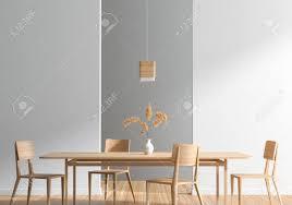 Wood Modern Dining Table Design Stock Illustration