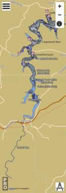 Quemahoning Reservoir Depth Chart Youghiogheny River Lake Fishing Map