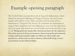 the definition essay ppt  12 example opening paragraph