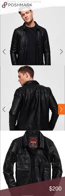 Superdry Jacket Size Chart Nwt Superdry Curtis Leather Jacket Nwt Superdry Curtis