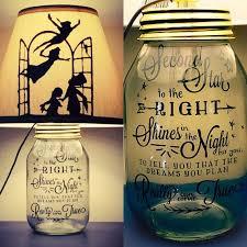 Peter Pan Inspired Silhouette Mason Jar Lamp by PracPerfCrafts