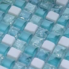 blue mosaic tile backsplash. Unique Tile Cream Stone Crackle Crystal Tile Backsplash Blue Glass Mosaic Wall Cracked  Shower Floor  Inside N