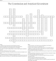 Federalism Crossword Wordmint