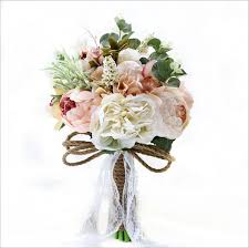 Heb Corsages 2018 Country Style Artificial Wedding Bouquets For Brides Casamen Lace Wedding Flowers Brooch Bouquets Bouquet Golden Wedding Anniversary Flowers Heb