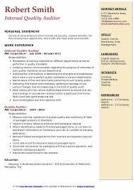 Auditor Job Description Resumes Quality Auditor Resume Samples Qwikresume