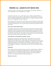 Example Of Medical Assistant Resume Resume Objective For Resume Medical Assistant