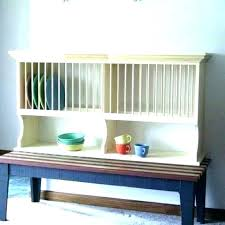 wall mounted wooden dish rack plate drying wood design