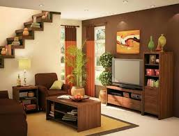 terrific small living room. Brown Sofa Combined With Rectangle Wooden Table On The Light Rug Completed Terrific Small Living Room H