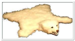faux polar bear rug bearskin teddy skin living taxidermy for rugs com head and paws view of polar bear rug