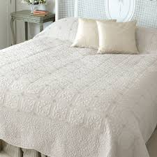 36 best bedspreads browns images on Pinterest | Quilted bedspreads ... & Kingsize Ivory Victoria Quilted Shabby Chic Bedding Cover Adamdwight.com