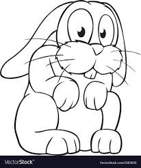 Black And White Cartoon Rabbit Royalty Free Vector Image