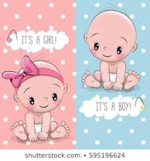 Boy Or Girl Baby Announcement Girl Baby Announcement Stock Vectors Images Vector Art