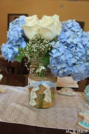 Good Images Of Blue And White Centerpieces For Wedding Table Decoration  Ideas : Fancy Image Of