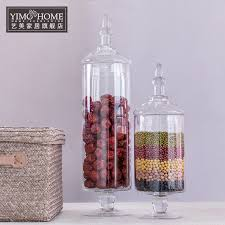 Decorative Glass Jars Wholesale 100 SET Candy Jar Glass Jars For Storage Wedding Decoration 18