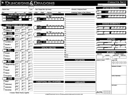 dungeons and dragons character sheet online custom dnd 4e character sheet by dieffenbachj on deviantart