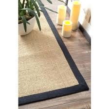 4x6 sisal area rugs 4 x 6 machine woven rug black by