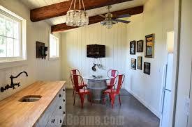 Open Floor Plan Designs With Beams Faux Wood Workshop - Open floor plan kitchen