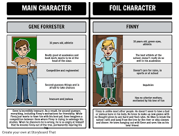 foils in a separate peace gene vs finny storyboard