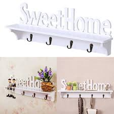 wpc board wall mounted shelf with