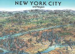 new york city wall map by unique media zoom