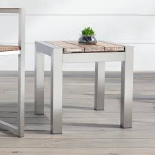 macon square teak outdoor side table whitewash weathered coffee 4