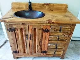 rustic pine bathroom vanities. Best Choice Of Rustic Bathroom Vanity 42 Copper Sink Pine Vanities N