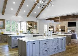 Vaulted ceiling wood beams Enlarge View Full Size Amazing Kitchen Features Vaulted Ceiling Fitted With Rustic Wood Beams Stylebyme Kitchen Vaulted Ceiling Wood Beams Design Ideas