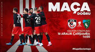 Gaziantep FK - Kocaelispor Ziraat Türkiye Kupası 5. tur maçını şifresiz A  Spor'dan canlı izle