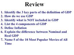 What Is Not Included In Gdp Review Identify The 3 Key Parts Of The Definition Of Gdp