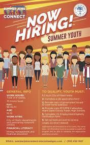 Flyer Jobs Now Hiring Summer Youth Via Summer Jobs Connect Miami