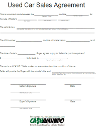 Car Purchase Contract Business Mentor Best Auto Purchase Agreement Form