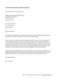 Referral Letter For Employment Recommendation Letter For Job Clever Hippo