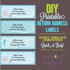 Avery 30 Label Template Ocean Beach Return Address Labels Turquoise Avery Template