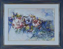 Scatizzi Sergio : Flowers - Tempera, pastels and watercolors on paper -  Auction AUTHORS OF XIX AND XX CENTURY - Galleria Pananti Casa d'Aste