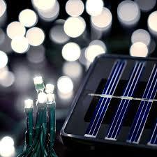 Saffron Solar String Lights 200 LED 60ft Warm White