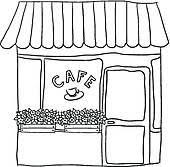 restaurant building clipart black and white. Wonderful And Restaurant And Building Clipart Black White