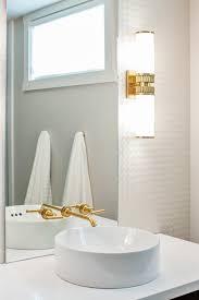 gold faucet contemporary bathroom
