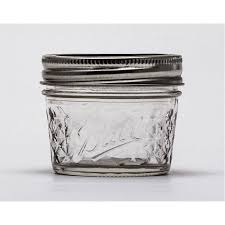 4oz / 120ml Quilted Jam Jars and BPA Free Lids Ball Mason x 12 &  Adamdwight.com