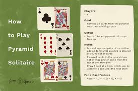 Pyramid Solitaire Card Game Rules