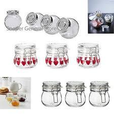 mason small glass jars e herb jam bottles mason clip top airtight mini