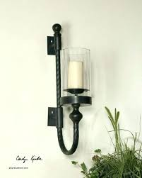candle holder with handle wall candle holders wall candle sconces with glass sconce wooden handle candles