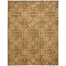 safavieh antiquity 11 x 17 hand tufted wool rug in gold and beige at411a 1117